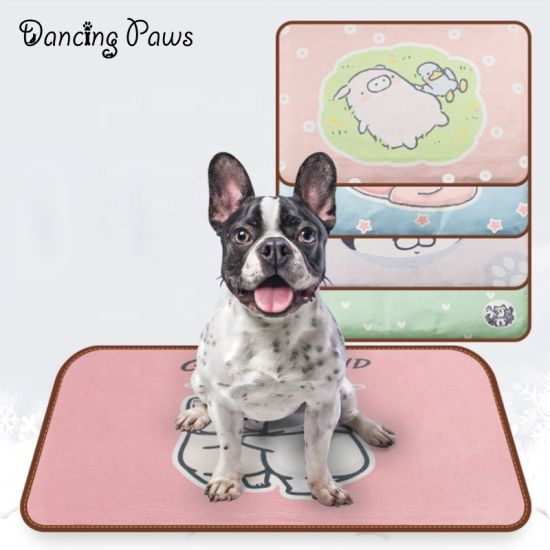 Amazon Best Selling Pet Summer Cool Mat Wholesale Cheapest Price Cooling Mat With Print Design Dog Pad