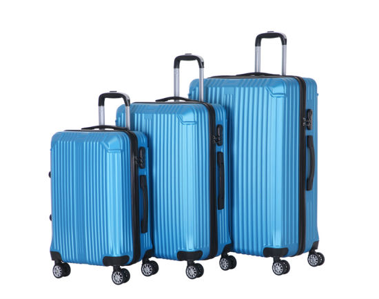 China ABS Luggage Factory Travel 3PCS 20 24 28 Inch Cabin Trolley Suitcase Set (XHA183)