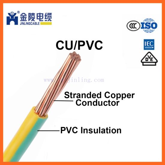 H07V-R PVC Insulated Copper Wire Electric Cable Housing Construction on
