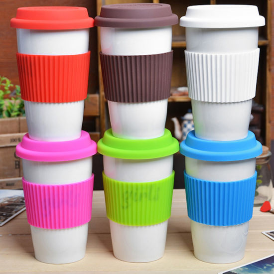 Universal Anti-Dust Spill Proof Replacement Silicone Coffee Cup Lid