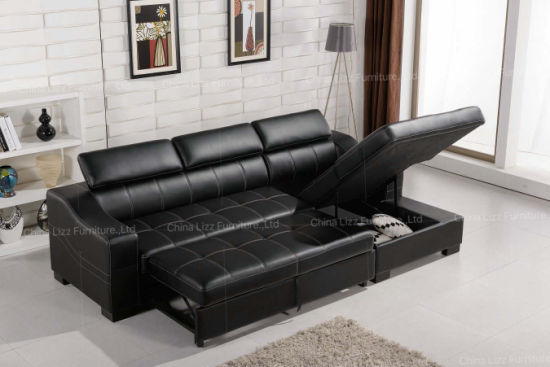 Lizz Funriture L Shaped Couch Sofa Bed with Storage - China ...