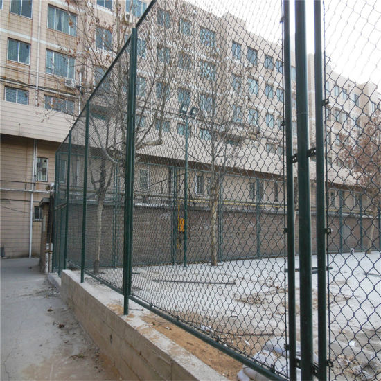 Wholesale Best Price Diamond Brand Galvanized PVC Coating Colored 9 Gauge Chain Link Wire Mesh Fence