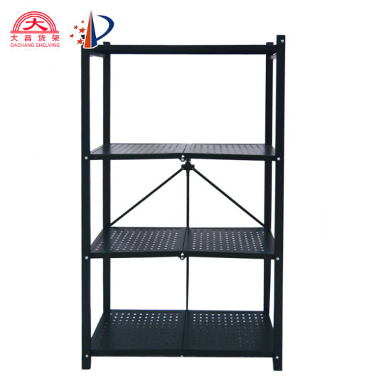 5-Layer Adjustable Wire Shelf with Wheeled Wire Rack Folding Wire Shelving