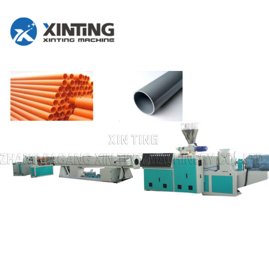 Plastic Twin/Single Extruder/Extrusion PVC PE PPR PP HDPE Pipe/Profile Water/Gas /Drainage/Electric Conduit Supply Manufacturing Making Production Line