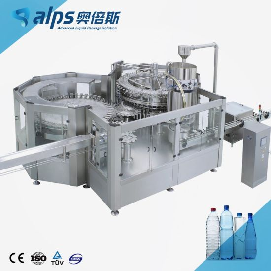 Complete Line Automatic Portable Table Drinking Pure Mineral Water Bottling Machine / Blowing Filling Labeling Packing Equipment Processing Machinery