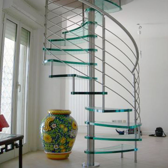 Carbon Steel Aluminum Outside Spiral Staircase (PR S06)