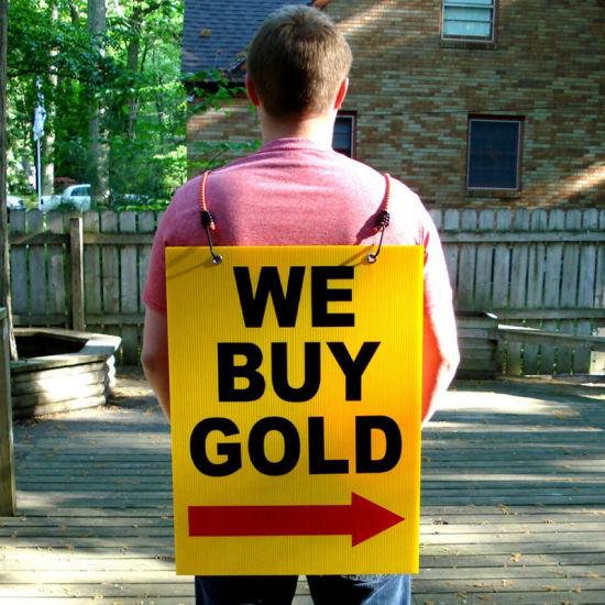 Corrugated Polypropylene Polypropylene Free Stand Advertising and Sign