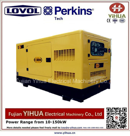 30kw/37.5kVA Silent Diesel Generator Powered by Lovol-Perkins Engine-20171012g pictures & photos