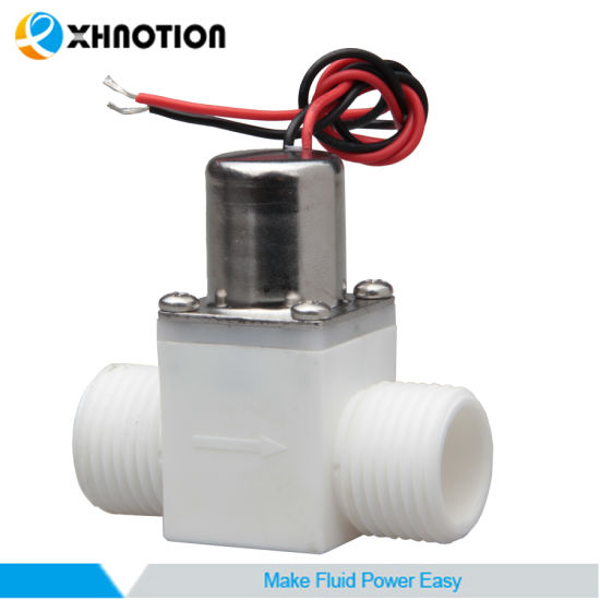 "Automatic 1/2"" BSPT Plastic Male Pulse-Signal Control Latching Solenoid Valve pictures & photos"