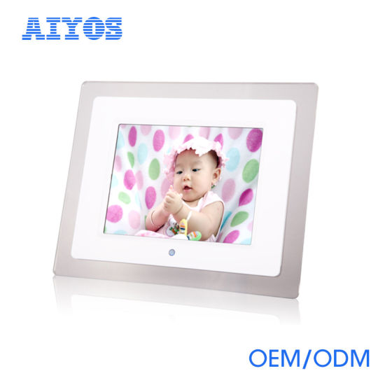 China Wall Mounted 8 Inch Battery Operated Digital Photo Frame
