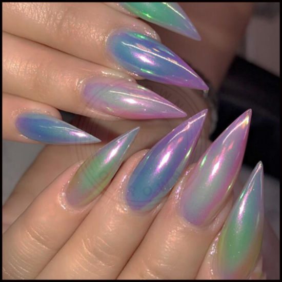 Rainbow Metallic Nail Polish: Rainbow Metallic Pearl Nail Polish
