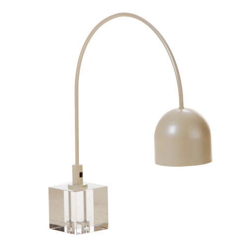 Classical Fabric Reading Lamp Metal Crystal Base Table Lamp for Guestroom