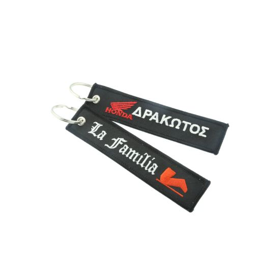 Remove Before Flight Embroidery Keychain with Custom Design pictures & photos