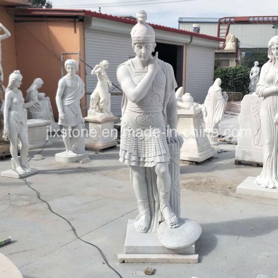 Outdoor Garden Decor Marble Warrior Statue