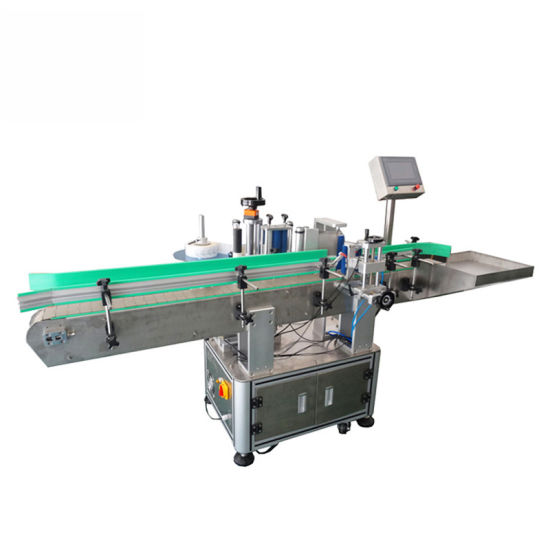 Automatic Round Bottle Label Machine with Conveyor