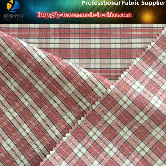 Nylon Yarn Dyed Elastic Plaid Fabric in Soft Hand Feeling for Shirting