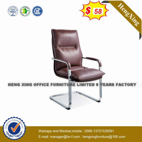 Wooden Base Leather Upholstery Conference Hotel Lobby Chair (NS-8068B) pictures & photos