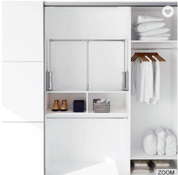 Pull Down Closet Rod Wardrobe Lift Out Rack Accessories