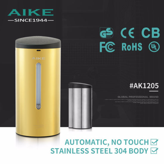 Wall Mounted Motion Sensor Commercial Touchless Auto Hand Liquid Soap Dispenser (AK1205) pictures & photos