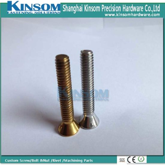 Ss 316 Countersunk Head Cooper Nickel Coating Machine Screw for Expansion Bolt and Nut