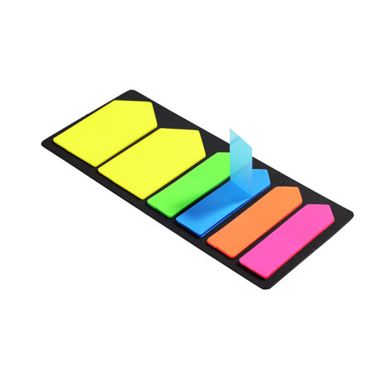 china colorful pet plastic material arrow shape sticky notes china