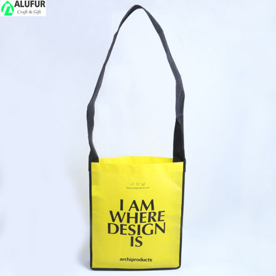 Full Color Printed Trade Show Exhibition Nonwoven A4 Size Messenger Bags
