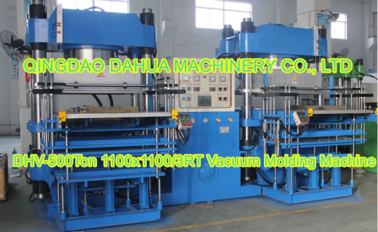 500ton Large Plate Rubber Vacuum Molding Machine for Rubber Silicone Products (DH500VF)