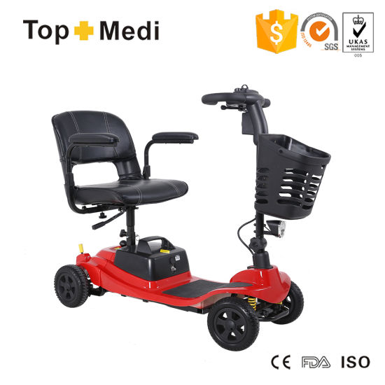 Topmedi Taiwan Imported Charger Power Mobility Scooter with Optional Batteries for Disabled