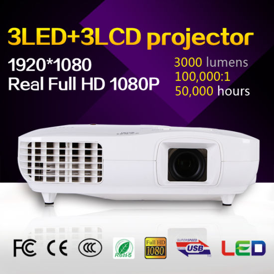 3000 Lumens 3LCD Cheap Price Mini LED Home Theater pictures & photos