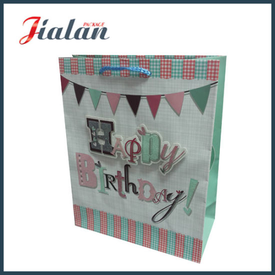 Custom Matte Lamination Cheap Price Made Paper Birthday Gift Bags