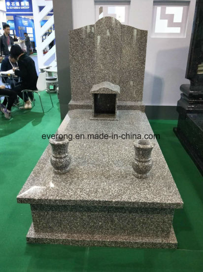 China Granite Stone Monument Flower Vase Tombstone Vase For Sale