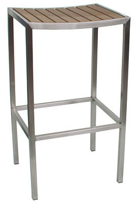 Stainless Steel Frame Poly Wood Outdoor Bar Stool pictures & photos