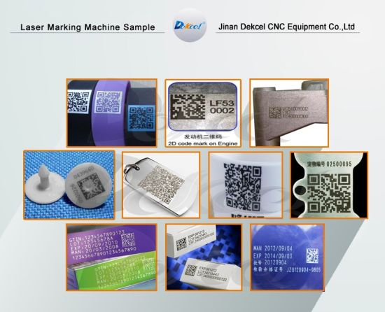 2D Bar Codes Fiber Laser Engraving Marking Machines pictures & photos