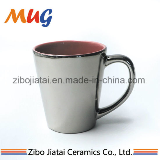 574ac57c9b6 Personalized Inner Colored Outside Metallic Electroplated Silver  Sublimation Mug
