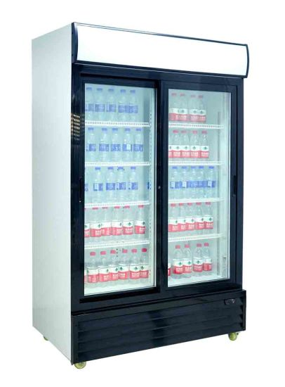 China 1000l Fast Cooling Fridge Used Glass Door Refrigerator