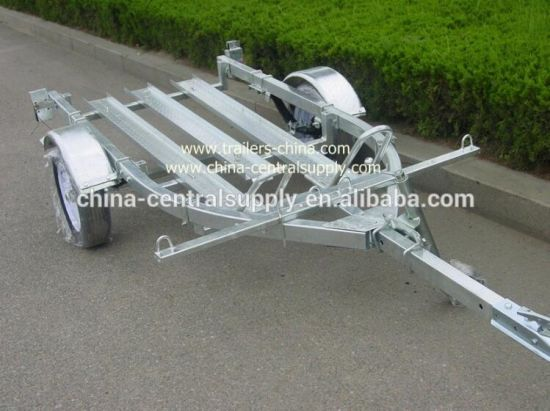 Manufacturer and Factory Supply Galvanized 2 Rail Motorcycle Trailer (CT0301B) pictures & photos