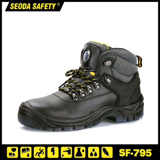 Individual Design Anti Slip Light Weight Full Grain Leather Safety Shoes (S3)