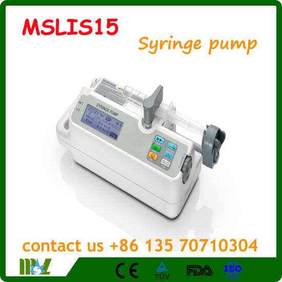 China Big Screen Single Channel Three Mode Syringe Pump Mslsi15