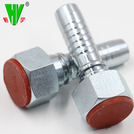 China Hydraulic Hose Crimp Coupling Fittings Carbon Steel