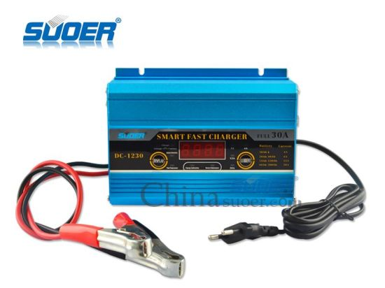 Suoer Manufacture 30A 12V Automatic Car Battery Charger with Engine Start Function (DC-1230) pictures & photos