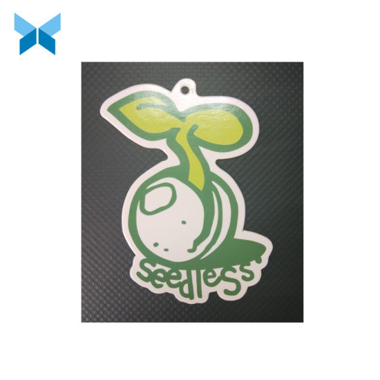 Special Shape Customized Lovely Seed Price Hang Tag with Eyelet for Garment