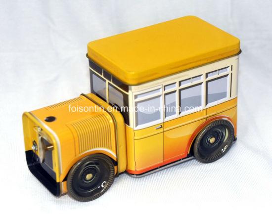 Vintage Design Empty Car Shape Music Candy Tin Box Truck Shaped Music Tin