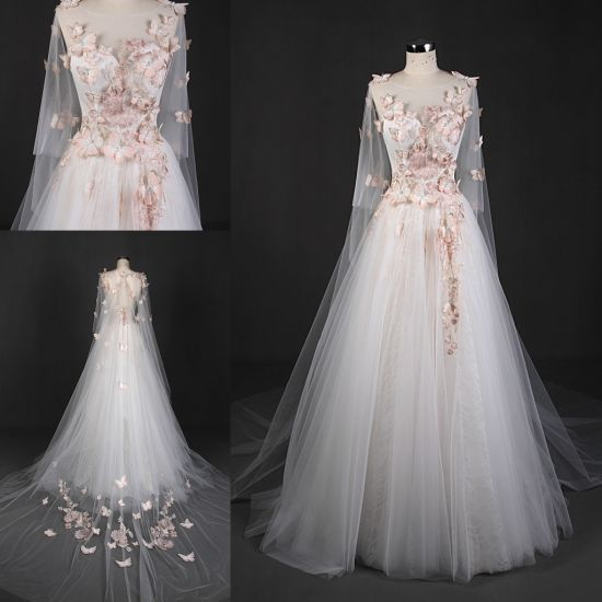 China New Design Butterfly Ball Bridal Gown Wedding Dress Gowns ...