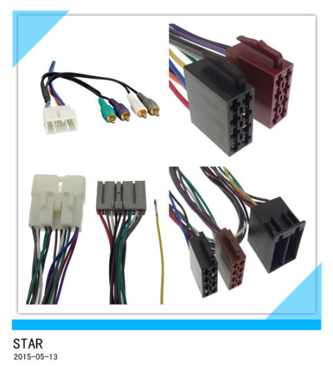 china universal radio iso male plug wiring harness with adpter car rh starconnect en made in china com