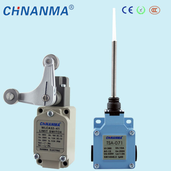 Aluminium Shell Push Plunger Type Limit Switch with Ce