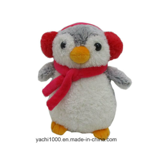 Soft Plush Penguin Kids Toy with Scarf