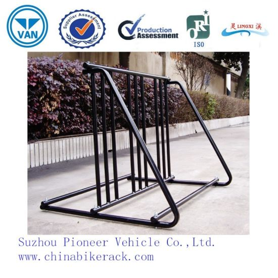 Black Powder Coated Bike Parking Stand Bike Racks pictures & photos