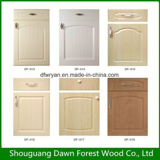 China Competitive Price Pvc Vacuum Kitchen Cabinet Door With Good