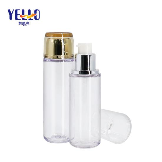Factory Clear Cylinder PETG Plastic Bottle for Lotion or Toner