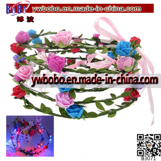 LED Flower Hairband Headband Light-up Wedding Accessory (B3071)